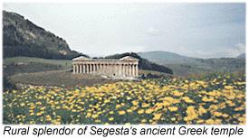 Pastoral harmony of Segesta's temple.
